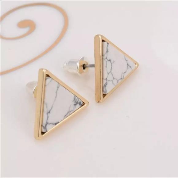 fancy fashions Jewelry - Triangle stone earrings